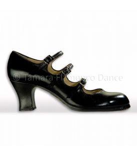 zapato de flamenco begoña cervera 3 correas negro