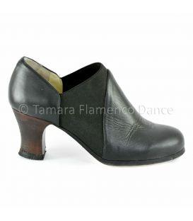zapatos de flamenco profesionales de mujer - Begoña Cervera - arraigo piel negro lateral