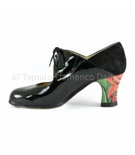 Zapato flamenco arty charol negro begoña cervera interior