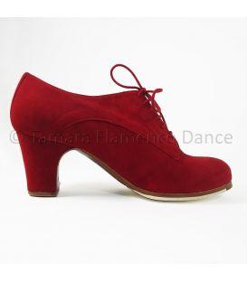 zapatos de flamenco profesionales de mujer - Begoña Cervera - Blucher ante rojo