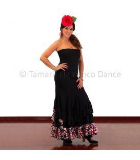 Taconeo (falda-vestido) estampado de lunares
