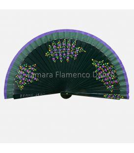 Abanico español diseño Flores 01. Pintado a mano