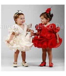trajes de flamenca 2015 nina - Roal - traje de flamenca niña alegria blanco