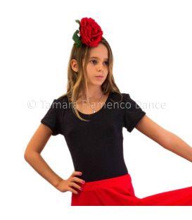 maillots bodys y tops de flamenco de nina - - Tamara (manga corta) niña - Poliamida