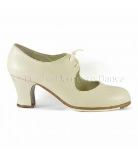 zapatos begona cervera en stock - Begoña Cervera - Cordonera piel blanco
