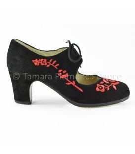 zapatos de flamenco profesionales de mujer - Begoña Cervera - Bordado Cordonera