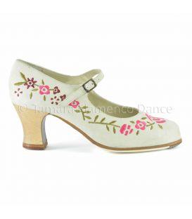 zapatos de flamenco profesionales de mujer - Begoña Cervera - Bordado Correa I