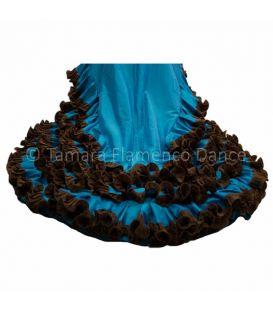Vestido Bata de cola Turquesa