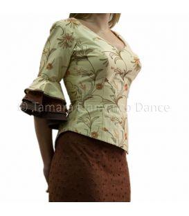 Vestido Bata de cola Marron/Beig