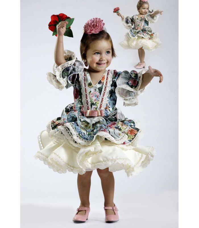trajes de flamenca 2017 , Roal , Bolero niña flores