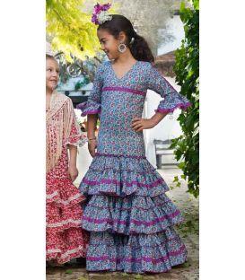 trajes de flamenca 2016 - - Fino azul