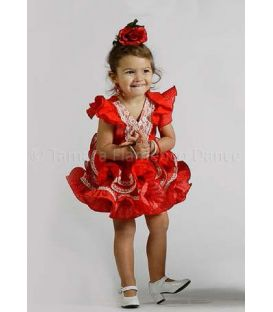 trajes de flamenca 2016 - Roal - Paola niña rojo