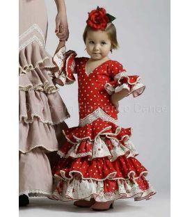 trajes de flamenca 2016 - Roal - Picara niña rojo lunares blancos