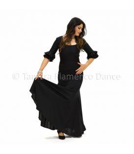 Almería - Viscosa con volante de encaje (falda-vestido)