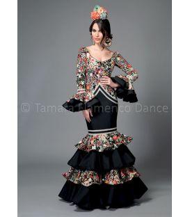 trajes de flamenca 2016 mujer - Aires de Feria - Bahía estampado y negro