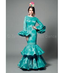 trajes de flamenca 2016 mujer - Aires de Feria - Brisa aguamarina