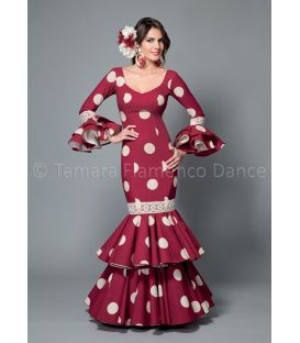 trajes de flamenca 2016 mujer - Aires de Feria - Brisa burdeos lunares