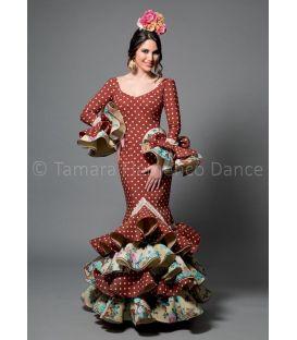trajes de flamenca 2016 mujer - Aires de Feria - Feria marron lunares