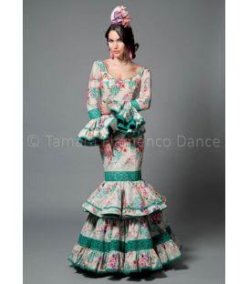 trajes de flamenca 2016 mujer - Aires de Feria - Maestranza agua marina