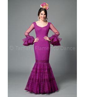 trajes de flamenca 2016 mujer - Aires de Feria - Paseo plumeti morado
