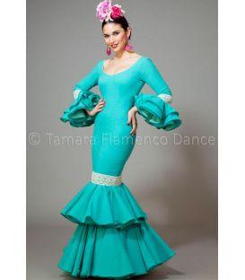 trajes de flamenca 2016 mujer - Aires de Feria - Brisa agua marina
