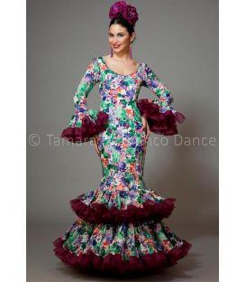 trajes de flamenca 2016 mujer - Aires de Feria - Copla estamapado flores