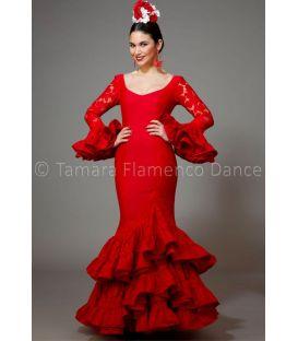 trajes de flamenca 2016 mujer - Aires de Feria - Manuela encaje rojo