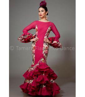 trajes de flamenca 2016 mujer - Aires de Feria - Manuela frambuesa y estampado