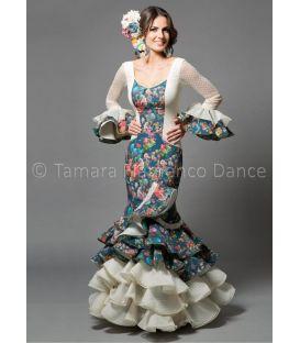 trajes de flamenca 2016 mujer - Aires de Feria - Rosa estampado de flores
