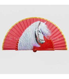 abanicos y pericones - - Abanico español con lunares pintado a mano (personalizable)