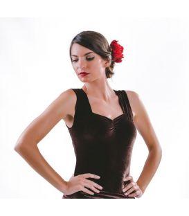 maillots bodys y tops de flamenco de mujer - - Body Amina Terciopelo
