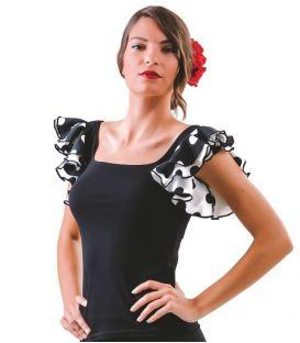 maillots bodys y tops de flamenco de mujer - - Camiseta Alegria - Poliamida