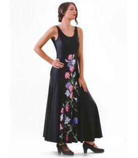 vestidos flamencos de mujer - - Vestido Cadiz pintado a mano - Lycra