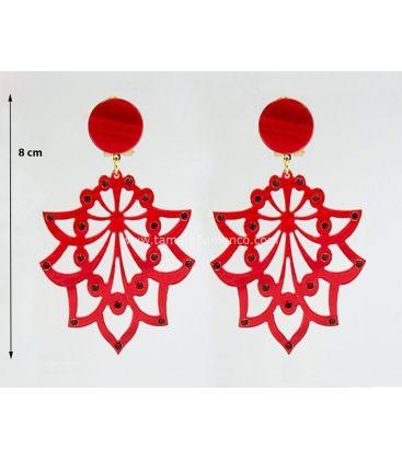 pendientes de flamenca - -