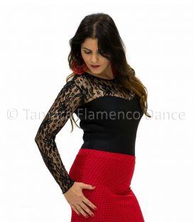 maillots bodys y tops de flamenco de mujer - - Body Desplante - Lycra y encaje