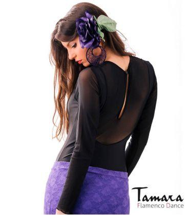 maillots bodys y tops de flamenco de mujer - - Body Tiento - Lycra y gasa
