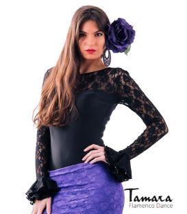 maillots bodys y tops de flamenco de mujer - - Body Desplante con volantes