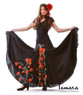 faldas flamencas de mujer - - Jerez con Flores (pintada a mano)