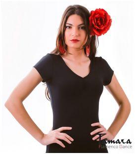 maillots bodys y tops de flamenco de mujer - - Body MC con Frunce - Supplex