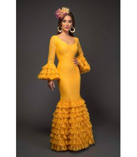 trajes de flamenca 2017 - Aires de Feria - Arenal Especial amarillo