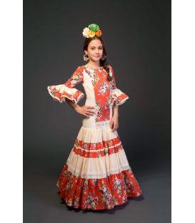 trajes de flamenca 2017 - Aires de Feria - Triana niña Naranja