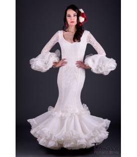 Vestido de flamenca Carla Superior Marfil