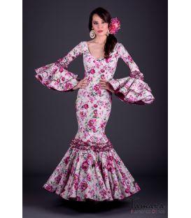 Traje de flamenca Pasion Flores Fuxia