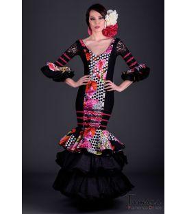 Traje de flamenca Diamante Superior Negro