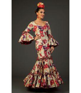 trajes de flamenca 2017 - Aires de Feria - Traje de flamenca Pasion Estampado Verde
