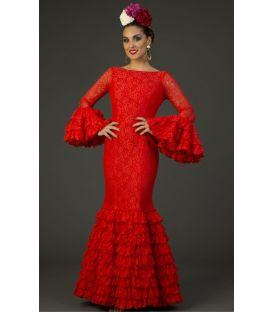trajes de flamenca 2017 - Aires de Feria - Traje de flamenca Arenal Especial Rojo