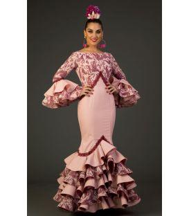 trajes de flamenca 2017 - Aires de Feria - Traje de flamenca Veronica Rosa