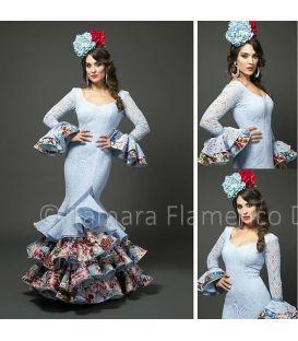 trajes de flamenca 2015 mujer , Aires de Feria , Angela , Celeste