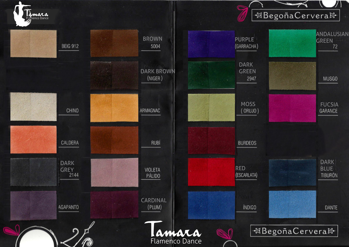 Begoña Cervera´s Official colors catalogue