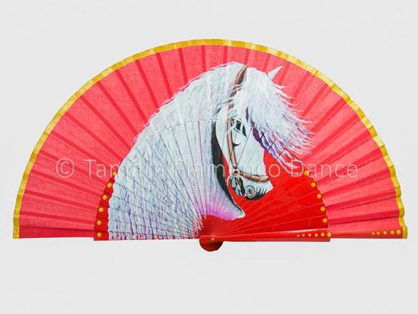 abanico con caballo español